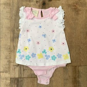 EUC First Impressions skirted onsie size 6-9mth